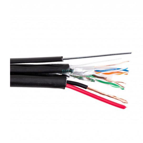 Eletec FTP 5E 4x2x0.5 + 2x0.75 outdoor с тросом